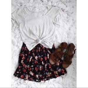 Hollister Floral Skater Skirt